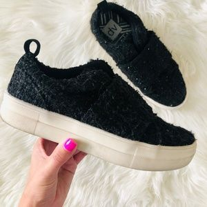 Dolce Vita | Black Slip On Platform Sneakers